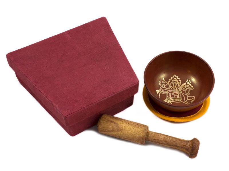 Klangschalen Geschenkset - Lungta (Windpferd)