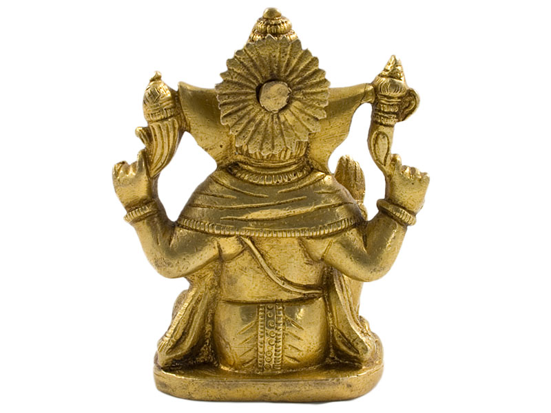 Ganesh Figur - Messing Statue 10 cm
