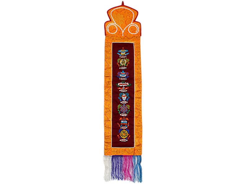 Tibetischer Wandbehang - 8 Glücksymbole