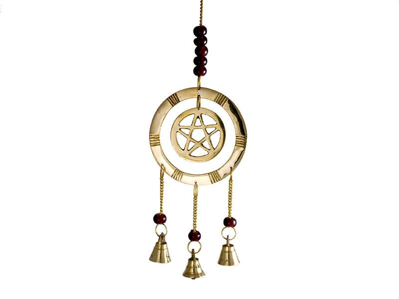Windspiel - Glockenspiel mit Pentagramm