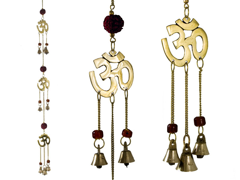 Windspiel Om mit Rudraksha (60cm)