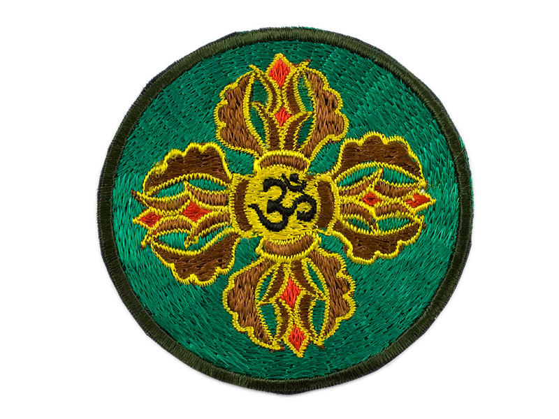 Aufnäher / Patch - Doppel Dorje mit Om-Symbol