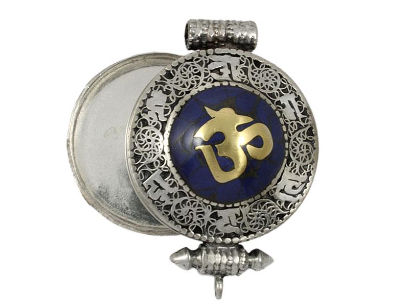 Tibetische Ghau Box Medaillon - Om Symbol