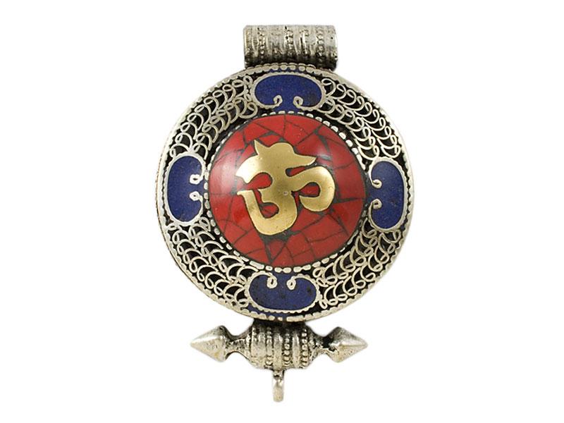 Tibetische Ghau Box Filigran - Om Symbol