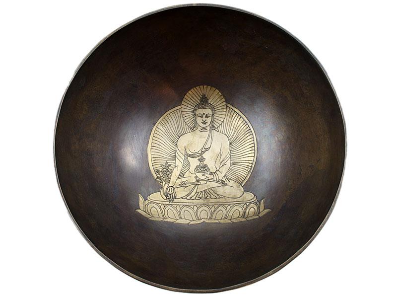 Gravierte Klangschale Medizin Buddha