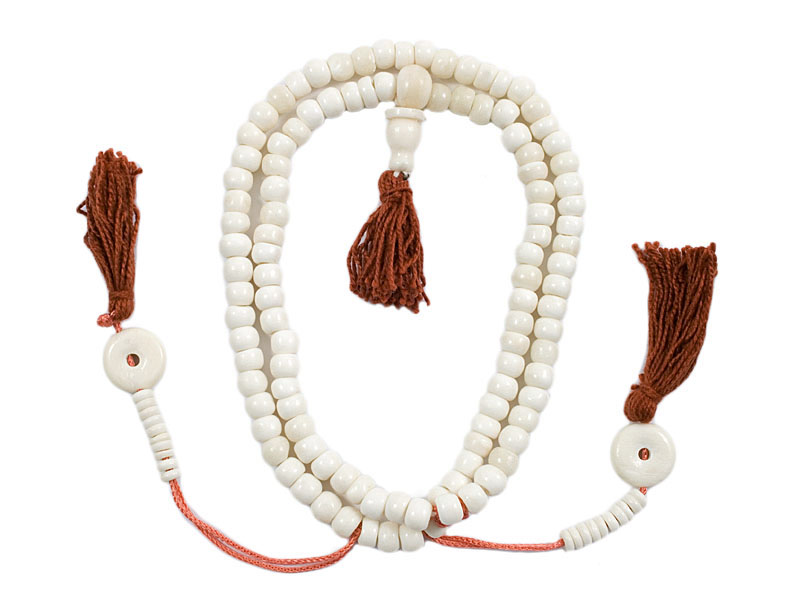 Mala Gebetskette - Knochen weiß 6 mm