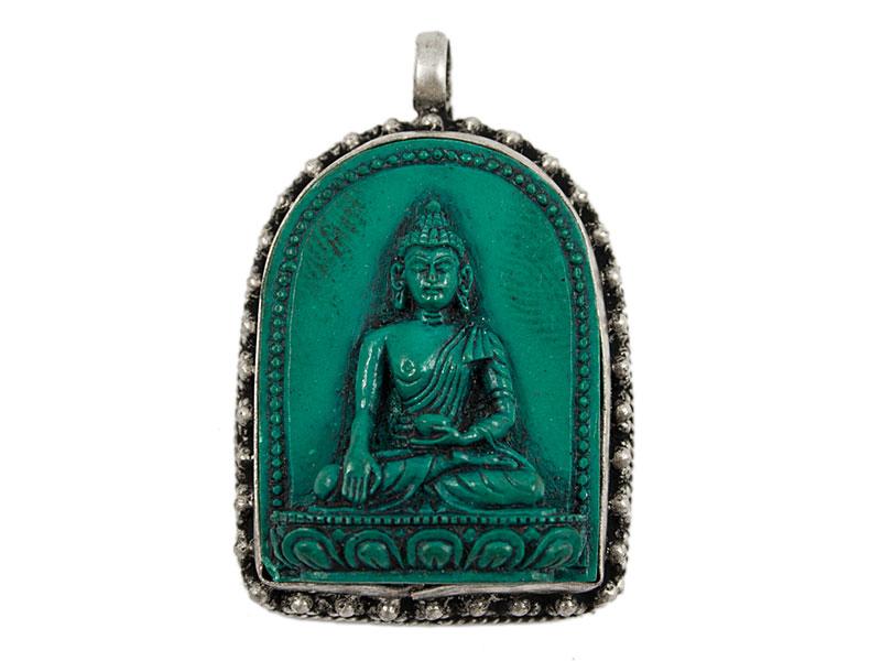 Medizin Buddha Anhänger - Türkis