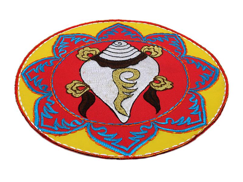 Tischdecke Altardecke Muschel Brokat rund