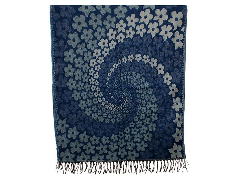 Nepal Schal Decke mit Blumen Spirale Muster