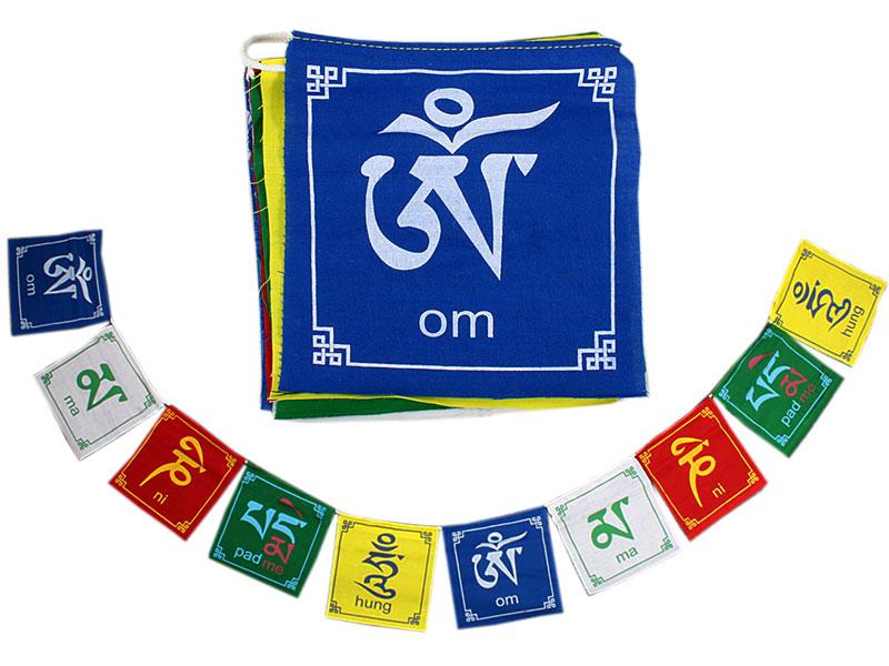 Tibetische Gebetsfahnen - Om Mani Padme Hum