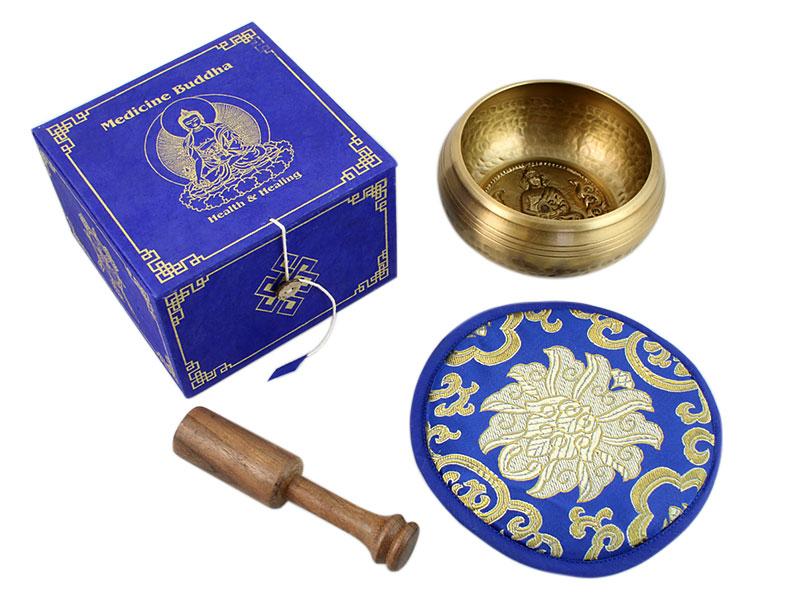 Klangschalen Geschenkset Medizin Buddha