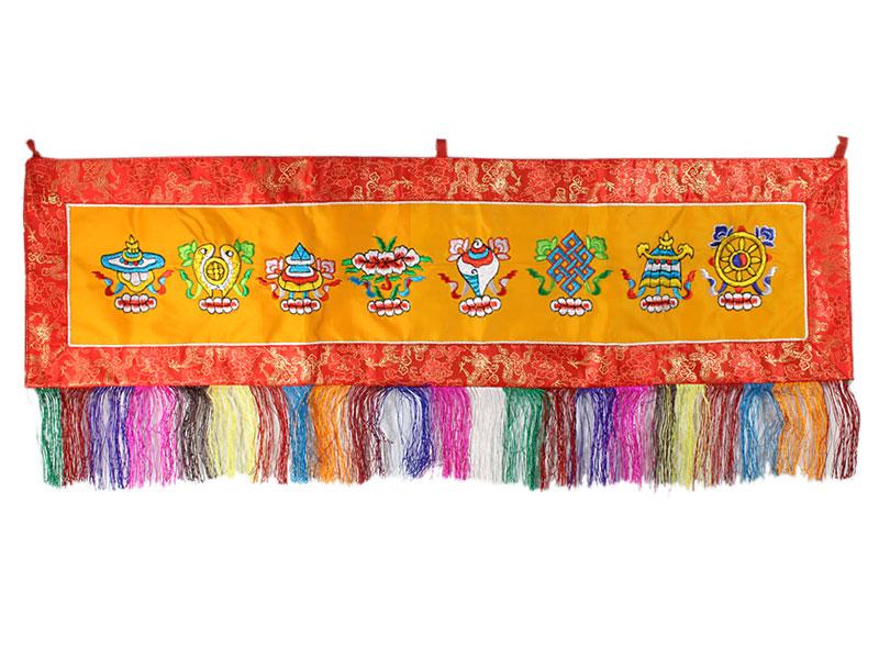 Tibetischer Wandbehang - Glückssymbole