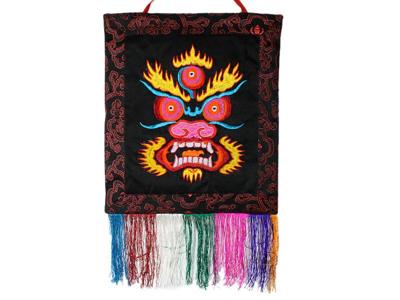Tibetischer Wandbehang Black Mahakala