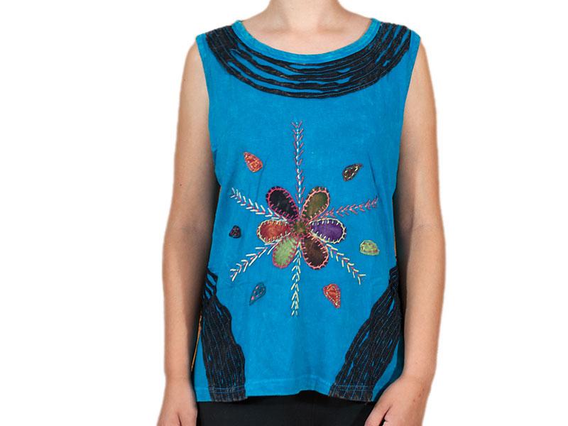 Patchwork T-Shirt - Hippie Flower