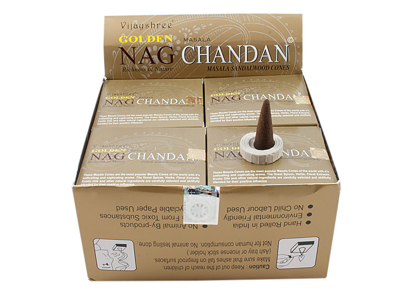 Golden Nag Chandan Räucherkegel