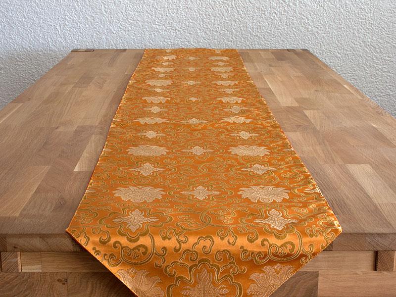 Langer tibetischer Tischläufer mit Quaste
