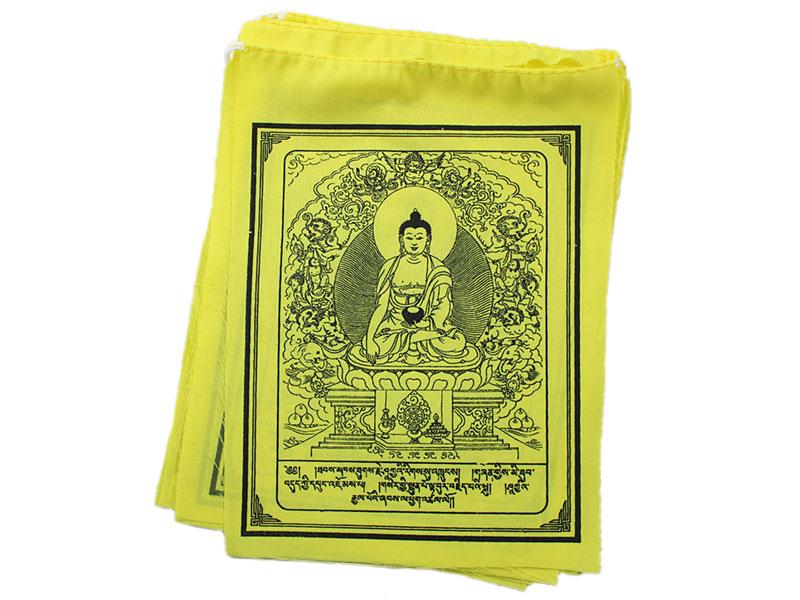 Tibetische Gebetsfahnen Akshobhya Buddha 10 Fahnen
