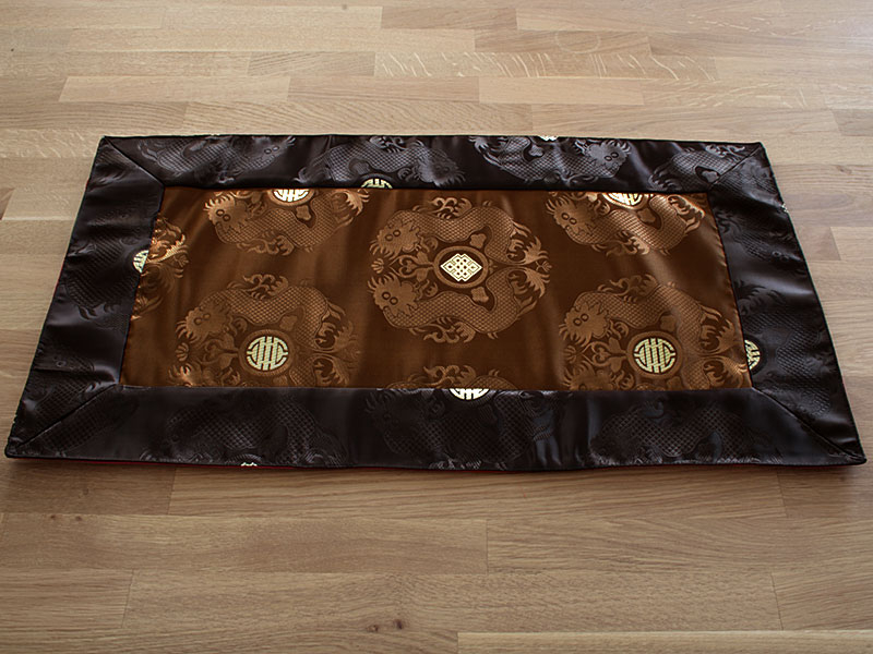 Tischläufer Altardecke Seiden-Brokat Drachen Tibet
