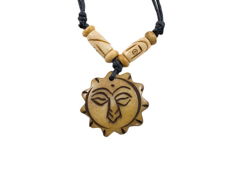 Yak-Knochen Kette - Augen des Buddhas
