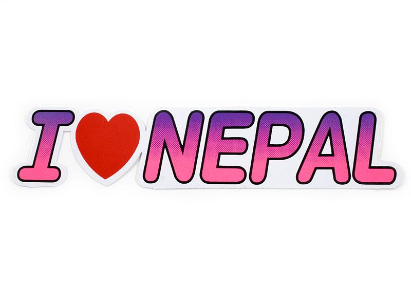 Aufkleber Sticker - I Love Nepal