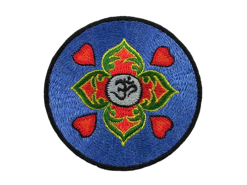 Aufnäher / Patch - Om-Symbol mit Herzen