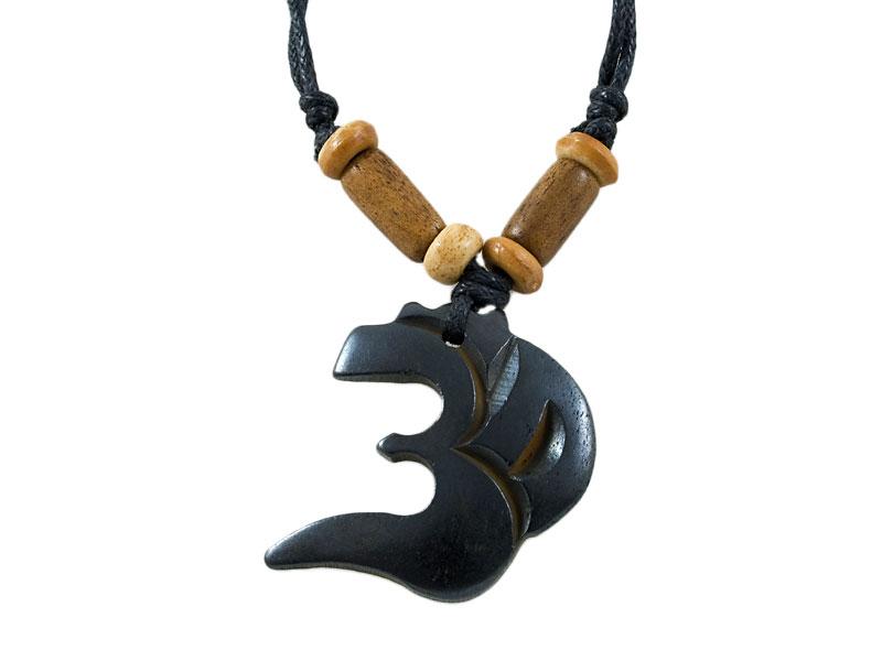 Yak-Knochen Amulett - Om-Symbol