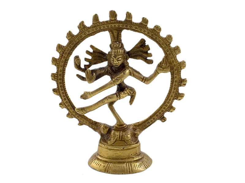 Shiva Nataraja - Messing Statue 9,5 cm