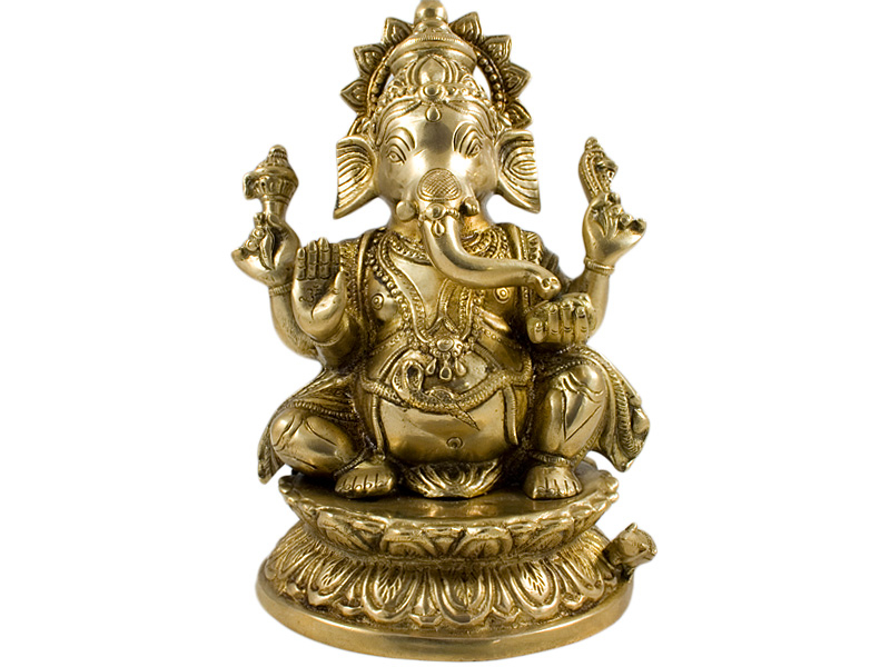Ganesh Figur - Messing Statue 24 cm