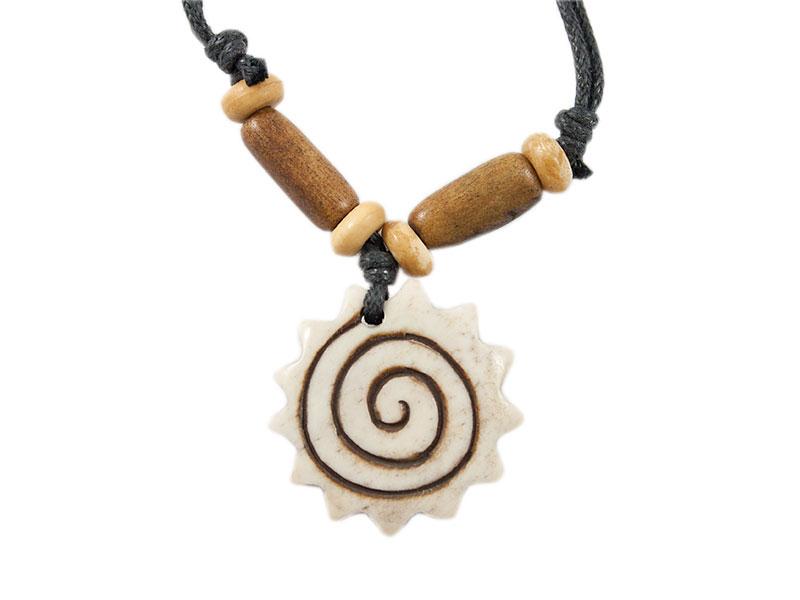 Yak-Knochen Kette - Spirale