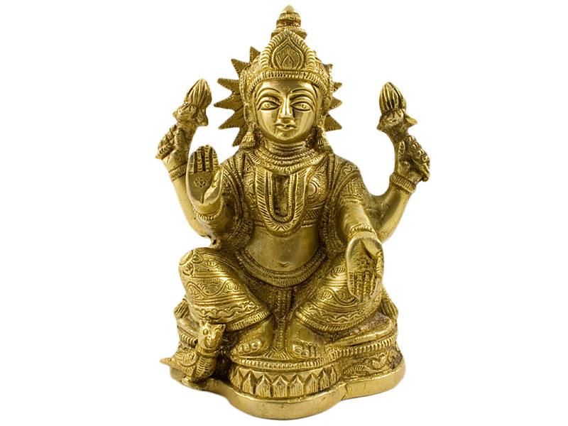 Laxmi Figur - Messing Statue 16 cm
