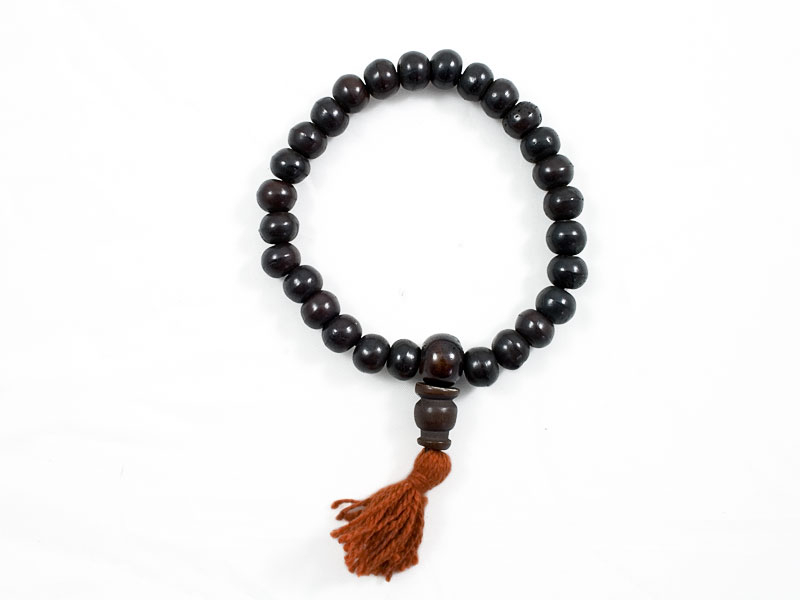 Hand-Mala Gebetskette Knochen dunkelbraun