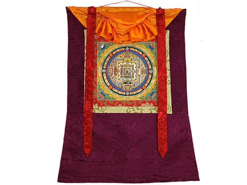 Thangka Rollbild - Kalachakra Mandala