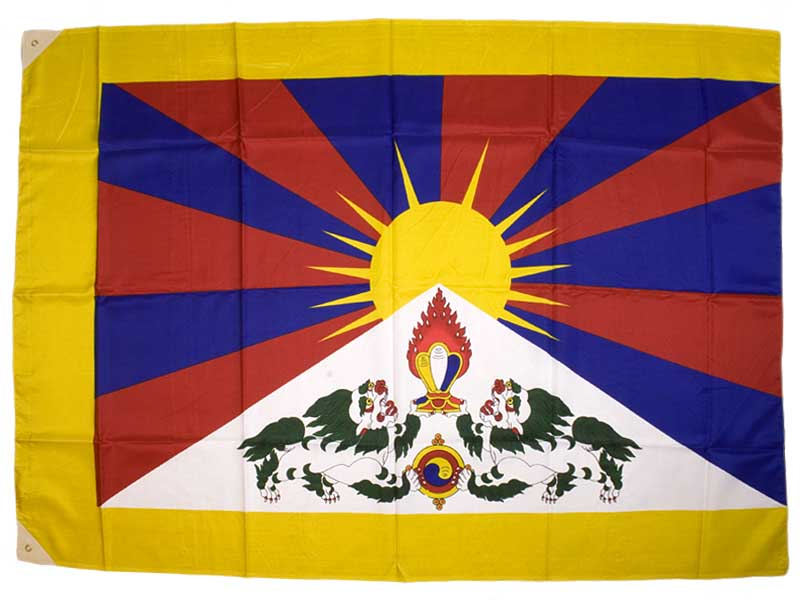 Flagge Fahne Tibet - 130 x 90 cm
