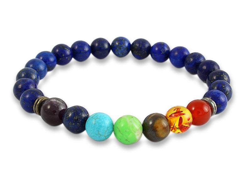 Chakra Armband mit Lapislazuli Perlen