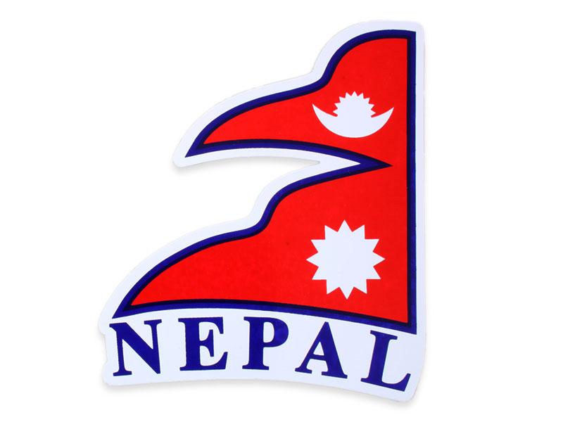 Aufkleber Sticker Fahne Nepal Flagge links-wehend