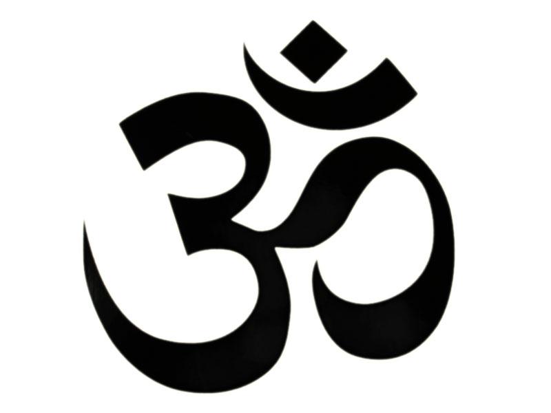 Aufkleber Sticker Om Symbol