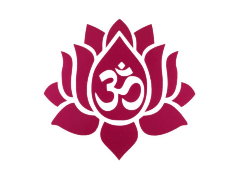 Aufkleber Sticker Lotus Om
