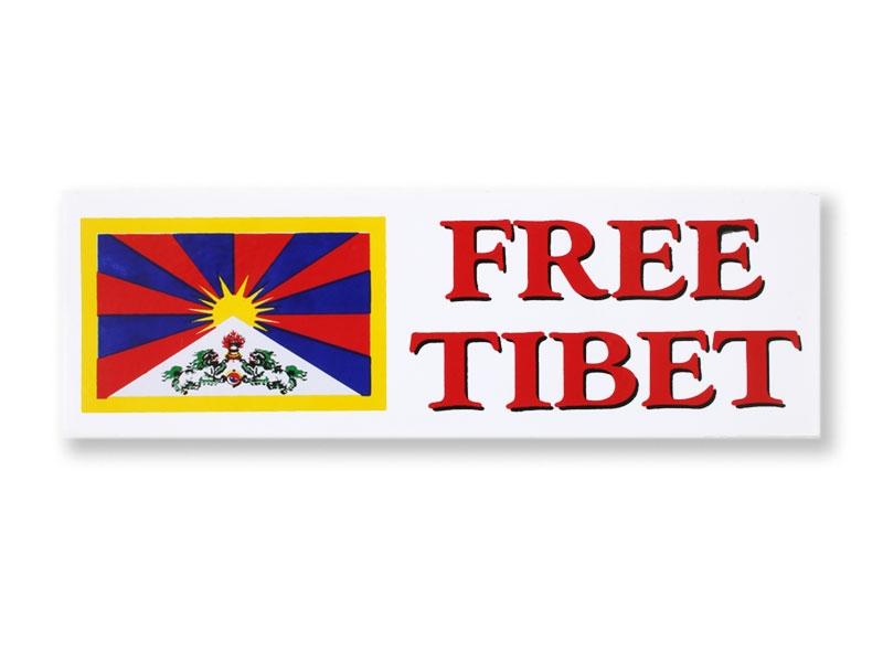Aufkleber Sticker Free Tibet klein