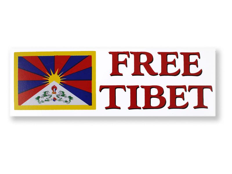 Aufkleber Sticker Free Tibet groß