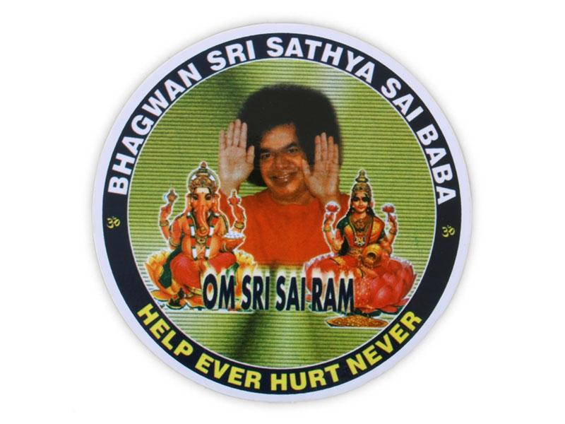Aufkleber Sticker Sai Baba Om Sri Sari Ram