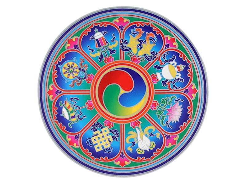 Fenster Aufkleber Sticker 8 tibetische Glückssymbole