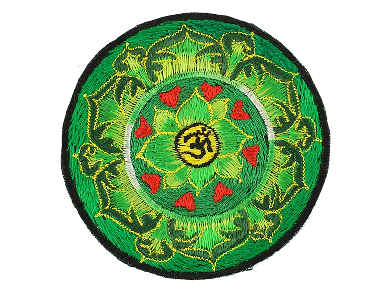 Aufnäher / Patch Om Aum Symbol Herzen im Lotus