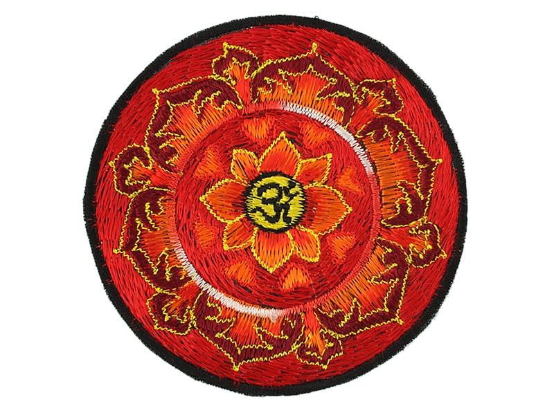Aufnäher / Patch - Om Aum Symbol im Lotus