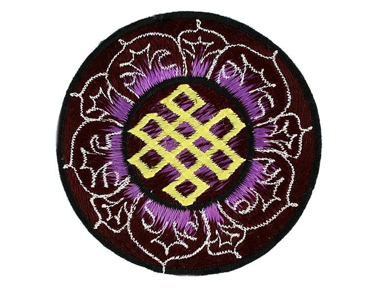 Aufnäher Patch - Endloser Knoten im Lotus