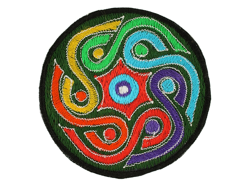 Aufnäher / Patches - Spirale grün