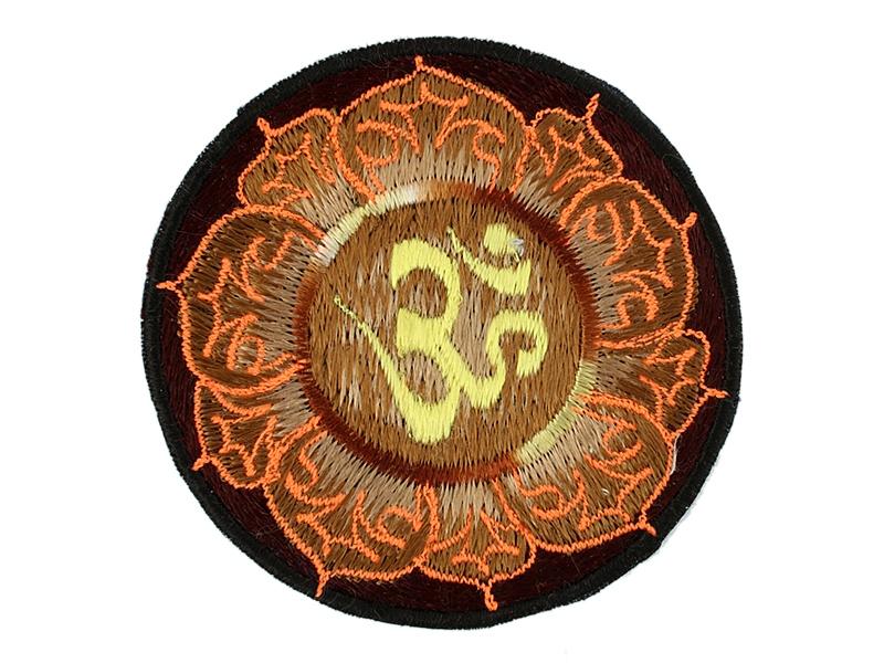 Aufnäher / Patch - Om Aum Symbol braun