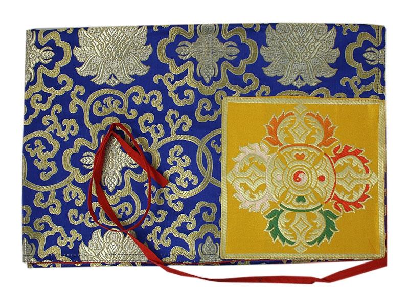 Tibetische Buchhülle Brokat Doppel Dorje