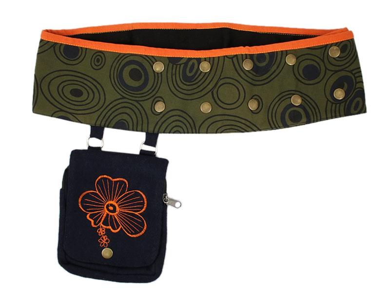 Mittelalter Gürteltasche Hüfttasche mit Druckknöpfen
