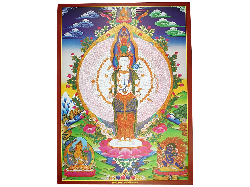 Dharma Poster mit 100 Arms Avalokiteshvara