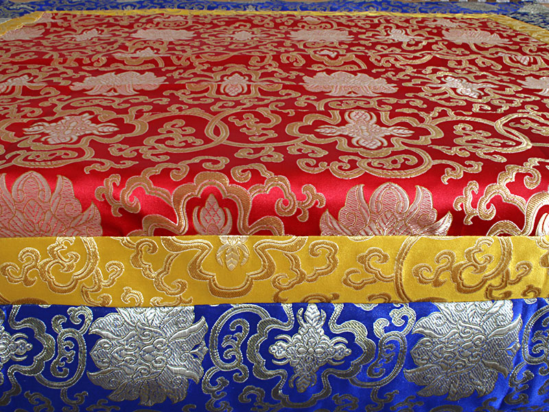Altardecke Tischdecke Seidenbrokat Lotus Design